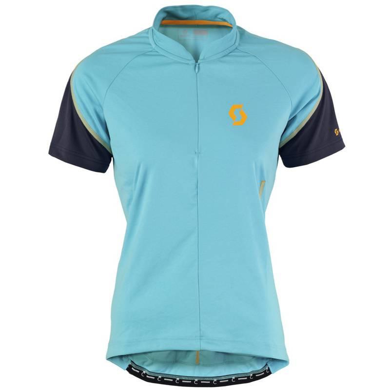Maillot SCOTT Women's Endurance Q-Zip S/SL Blue