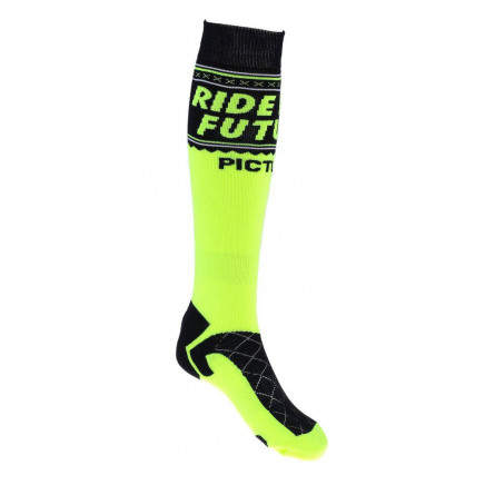 Chaussettes Picture Flake black / neon yellow