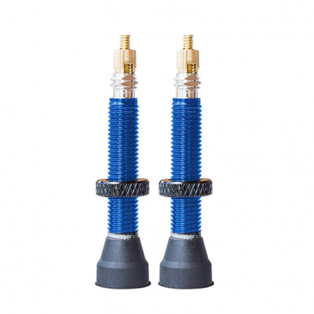 Paire de Valves Tubeless SB3 aluminium 35mm Blue