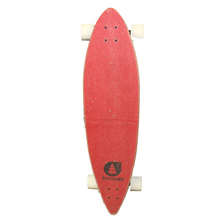 "Longboard Picture Dad & Son 40"" red"