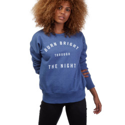 Sweat Volcom In A Dayz Crew femme blue drift