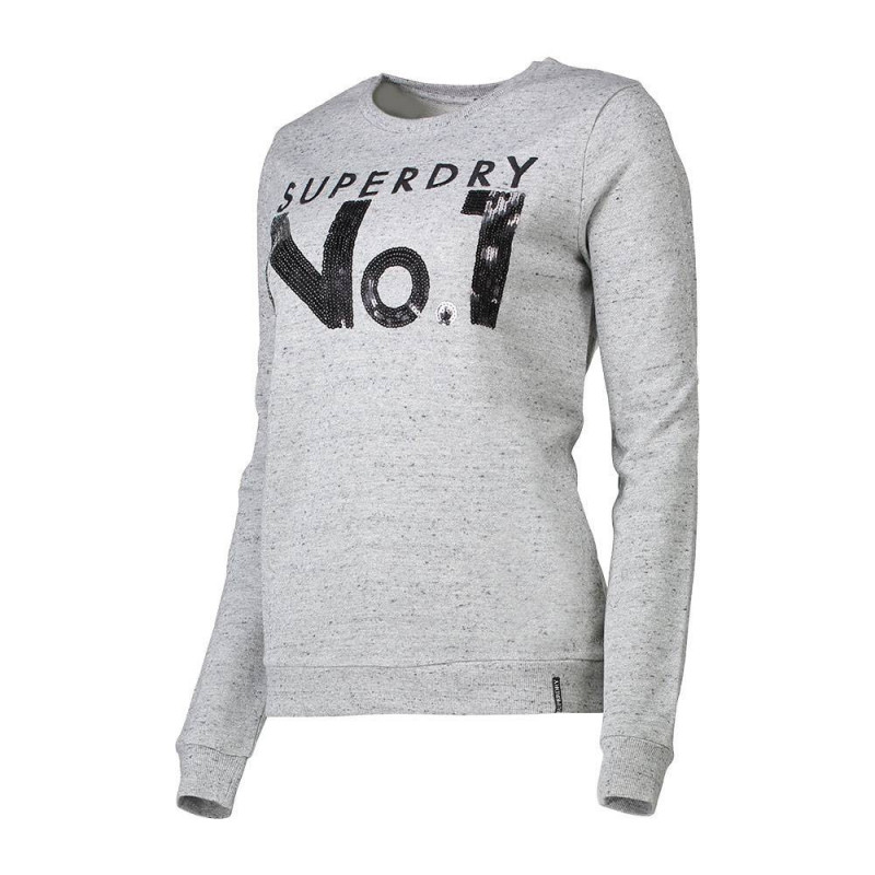 Pull Superdry sequin sparkle applique w gris