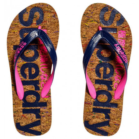 Tongs Superdry Cork Femme Multi Fleck Cork/French Navy