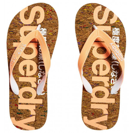 Tongs Superdry Cork Femme Multi Fleck/Fluro Coral