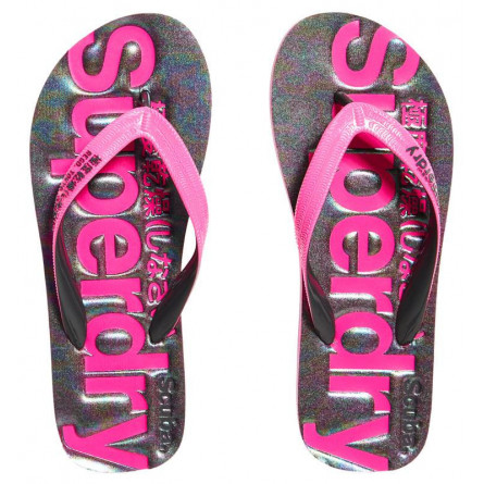 Tongs Superdry Scuba Femme Iridescent Charcoal Marl