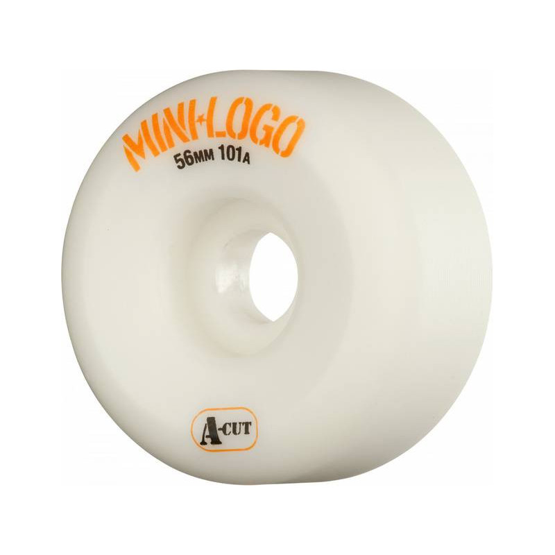 Mini Logo Wheels A-Cut 56 mm white