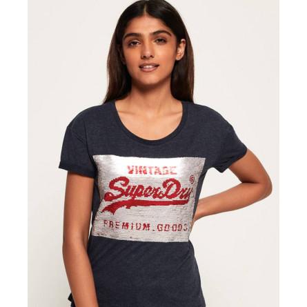 T-shirt Superdry Premium Sequin Slim
