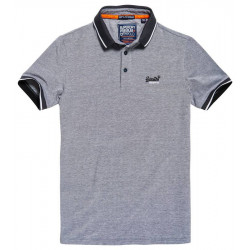 Polo Superdry City Oxford Grey