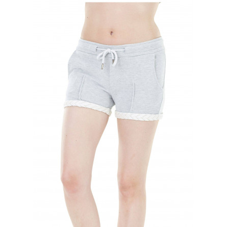 Short Picture Slasher Lace femme grey melange