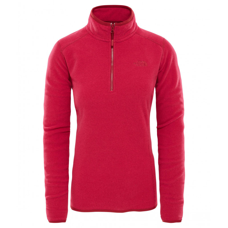 The North Face 100 Glacier 1/4 Zip femme rumba red / cerise pink