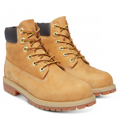 Timberland 6in Premium wheat nubuck yellow junior