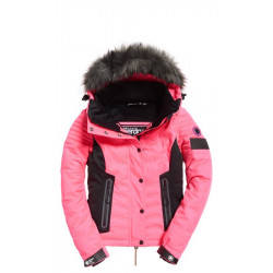 0d4be7593445 Veste Superdry femme luxe snow puffer acid pink