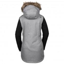 Femme Volcom Ski Ins Heather Veste Grey Jacket Fawn ROHxw5qn