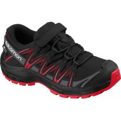 Salomon XA Pro 3D CSWP enfant Black / Black / High Risk Red