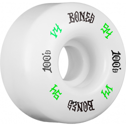 Bones Wheels 100'S 54 mm white