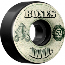 Bones Wheels 100'S 53 mm black