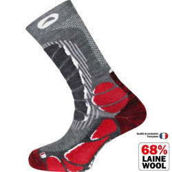 Monnet Trek Light grey / red