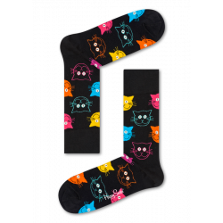 Happy Socks Cats Noir
