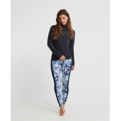 Legging Superdry Carbon Baselayer femme frosted blue icevortex navy