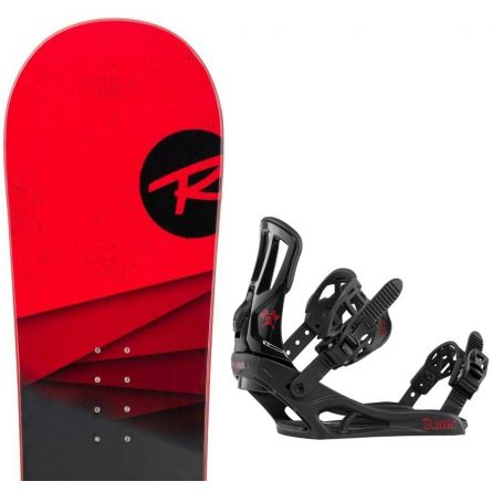 ROSSIGNOL DISTRICT BLACK/RED WIDE + BATTLE Black red