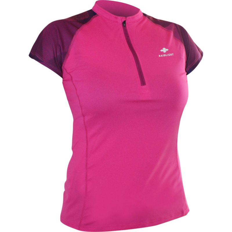 Raidlight Activ Run Ss Shirt Mid Zip W Pink / Purple