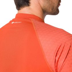 Raidlight Activ Run Ss Shirt Mid Zip Burnt Orange