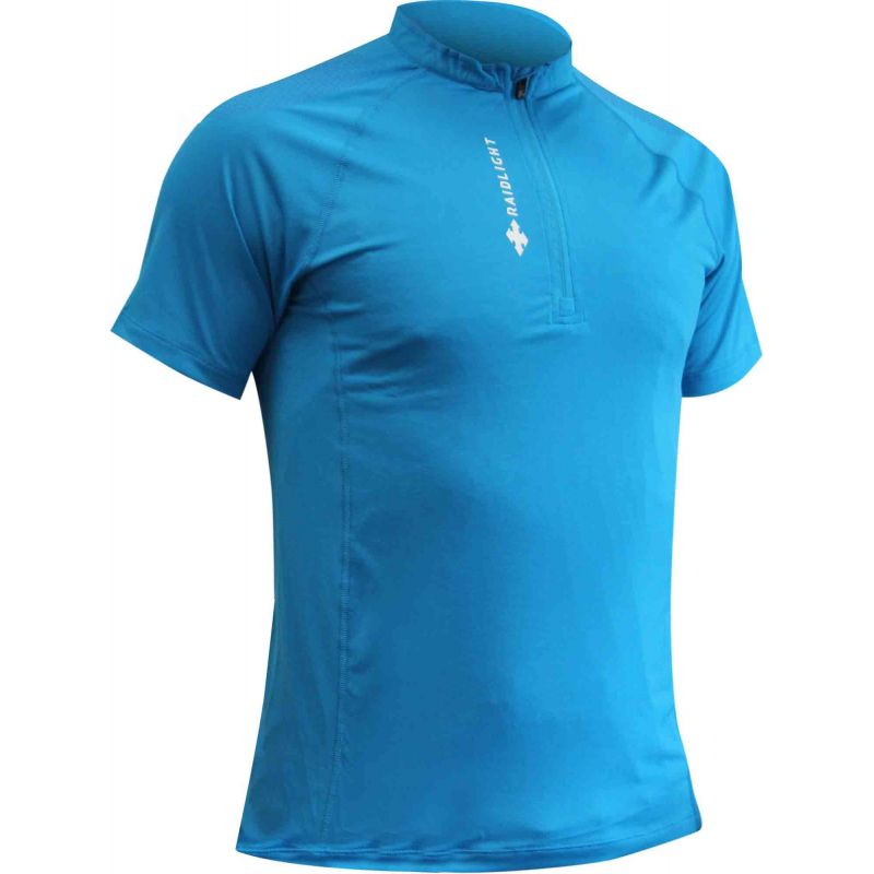 Raidlight Activ Run Ss Shirt Mid Zip Blue