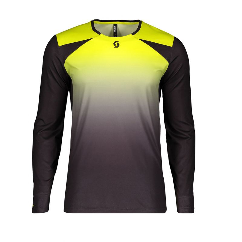 Scott shirt trail tech black yellow l/sl