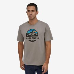 Patagonia Fitz Roy Scope Organic T-shirt Feather Grey