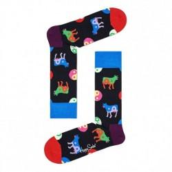 Happy Socks yin yang cow black