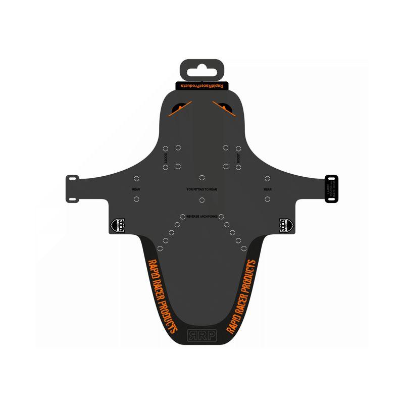 Garde-boue EnduroGuard - Large (fourche 120 à 200mm) - noir/orange