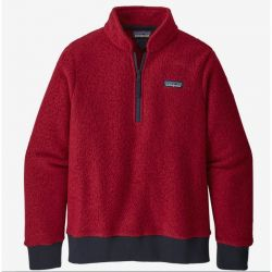 Patagonia Woolyester Fleece Pullover Femme molten lava