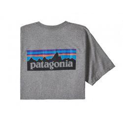 Patagonia P-6 Logo Pocket Responsibili-Tee gravel heather