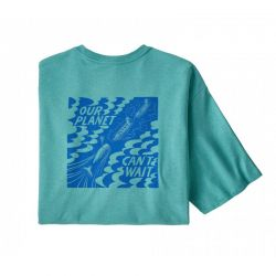 Patagonia Our Planet Can't Wait Responsibili Tee iggy blue
