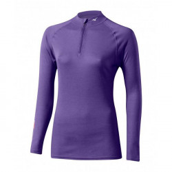 Mizuno Middle Weight Active W 1/2 zip purple