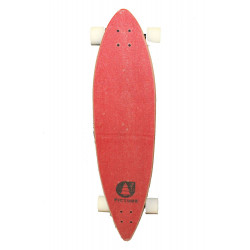 """Longboard Picture Dad & Son 40"""" red"""