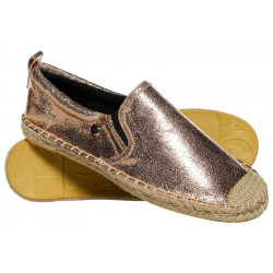 Espadrilles Superdry Liora Femme Rose Gold Crackle