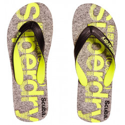 Tongs Superdry Scuba Grey Grit/Fluro Lime
