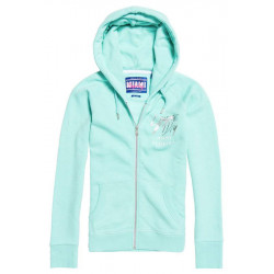 Sweat Zippé Superdry Beach Femme Morning Dew Blue