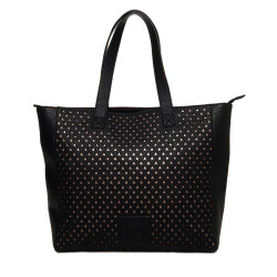 Sac Superdry Elaina Star Perf Tote Black / Rose