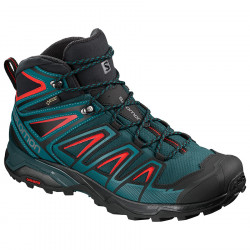 Salomon X Ultra 3 Mid GTX reflecting pond / deep lagoon / red