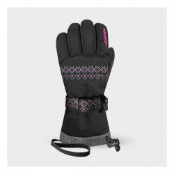 Gants Racer Aurore 7 Junior Black Pink