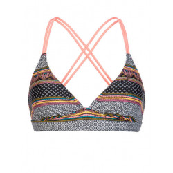 Protest MM Superbird Triangle Bikini Top coral blaze