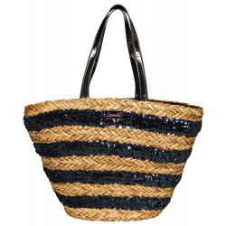 Sac de plage Superdry Anya Sequin natural / silver