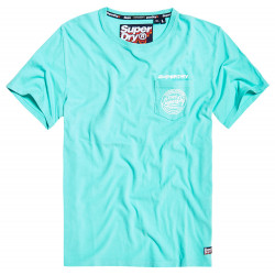 T-shirt Superdry Ticket Type Pastel turq blue