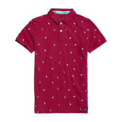 Polo Superdry Bermuda City bright coral