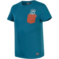 T-shirt Picture timber petrol blue