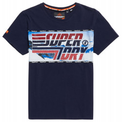 T-shirt Superdry Downhill Photographic rich navy