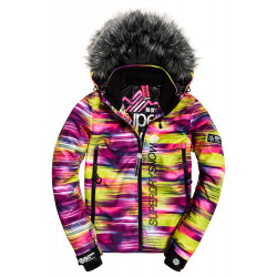 Veste Superdry SD Ski Run femme fluro kinetic