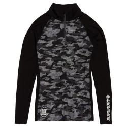 Superdry Carbon Baselayer Half Zip black dot camouflage